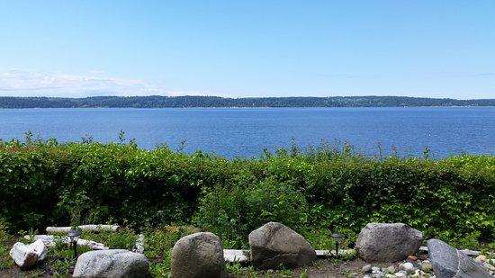 Camano Island, WA: View of the Saratoga Strait