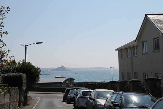 Penrose Guest House : View of St Michael's Mount from the street outside the Penrose