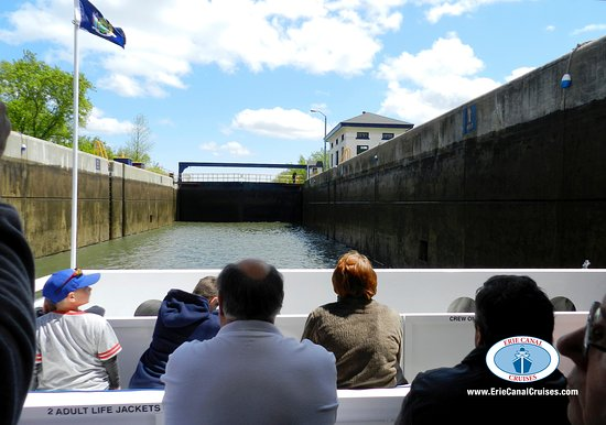 Herkimer, Νέα Υόρκη: Inside Lock 18 on the Erie Canal