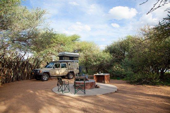 Okahandja, Namibia: One of the 4 campsites with braai facilities at Omatozu