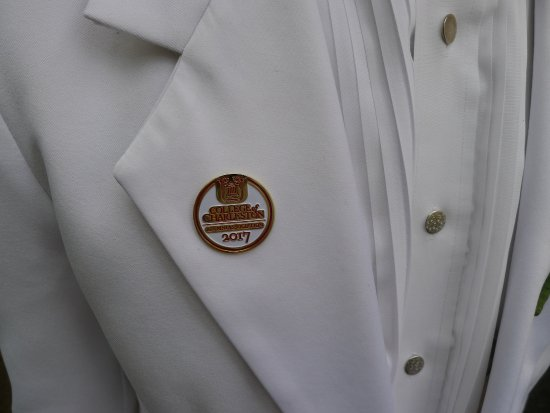 College of Charleston : Graduate wears a lapel pin