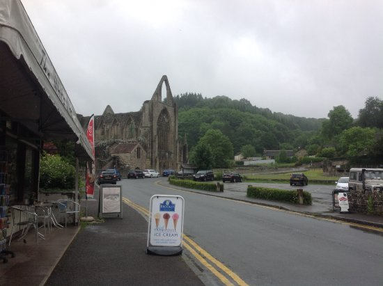 Tintern, UK : The view from the front of the cafe