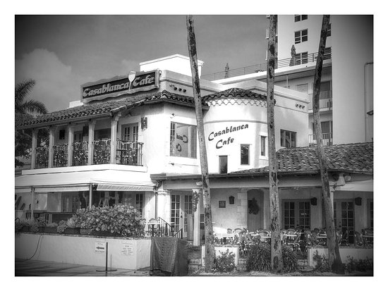 Outside view of Casablanca Cafe