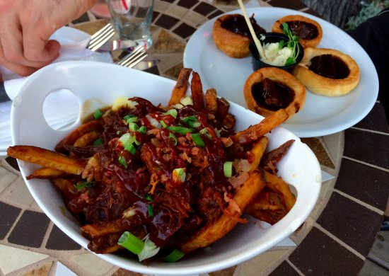 The Wolf's Den: Pulled pork poutine; Yorkshire pudding
