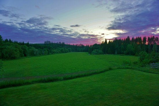 Vernonia, Oregon: Sunset from our deck