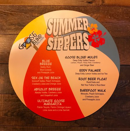 Goose Blind Grill & Bar : Summer Sippers