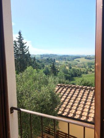 Монтеспертоли, Италия: vista dalla finestra