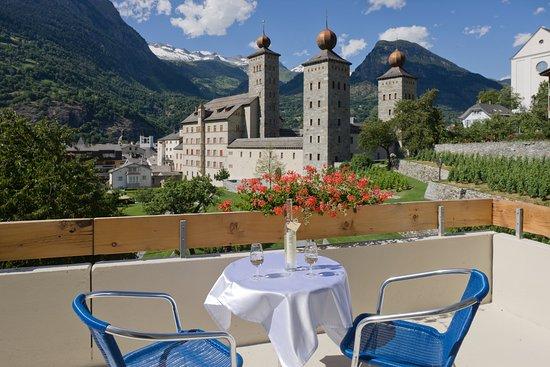 Schlosshotel Art Furrer: Balkon in Richtung Stockalperpalast