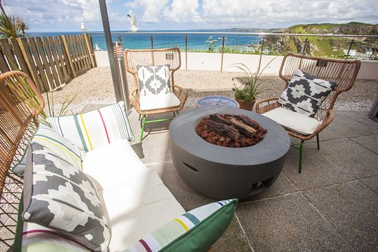 Fire Pit Outside Picture Of Pizza Express Newquay