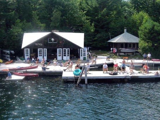Meredith, NH: Waterfront, The Mile Island AMC, Lake Winnipesaukee, N.H.