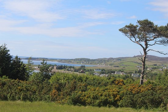 Aultbea, UK: View from the closed hotel carpark