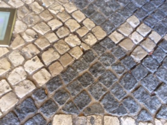Casa Mitchell Apartments: These are the 'cobbles' mentioned.