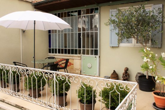 Bram, Francia: Suite sleeps 5 - Private Terrasse