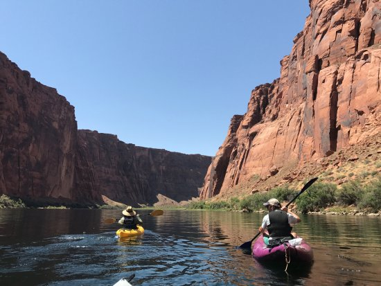 Marble Canyon, AZ: Kayaking down.