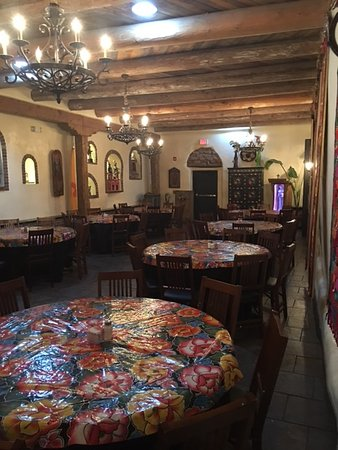 Mesilla, NM: One of the dinning area inside,
