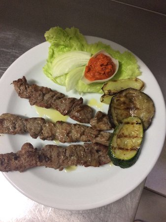 Solta Island, Croatia: Kabobs (grilled meat on the stick)