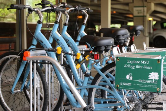 East Lansing, MI: See the beautiful MSU campus on a bike (free for guests staying at the hotel)