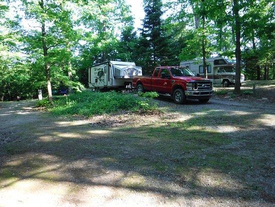 Lock 30 Woodlands RV Campground Resort: Campsite #28 view.