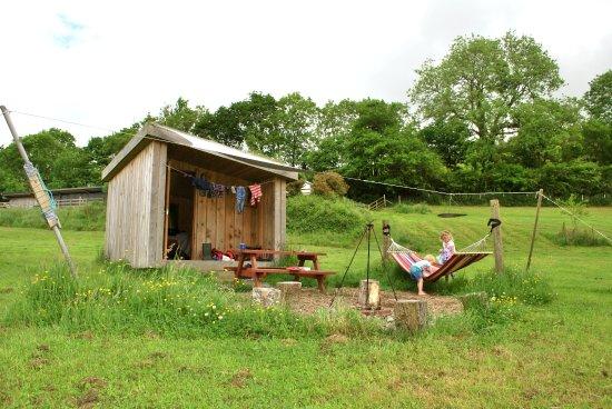 Ciliau Aeron, UK: exterior of our hut