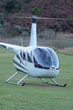 uKhahlamba-Drakensberg Park, Afrika Selatan: Our Helicopter