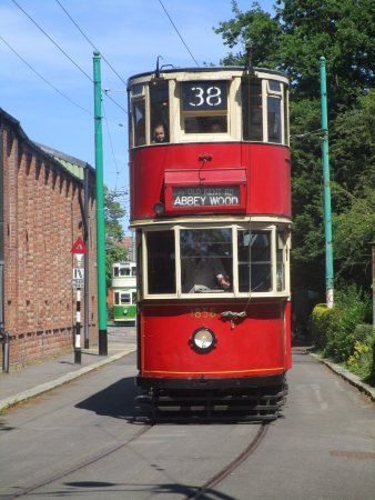 East Anglia Transport Museum: London Tram on a trip around the museum
