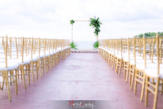 Rockhouse Hotel Wedding Ceremony Setup