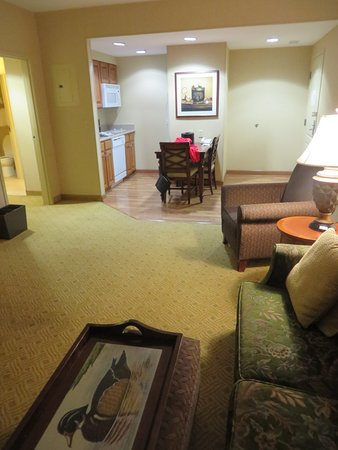 Homewood Suites Hagerstown: living room and kitchen of our suite