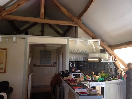 Le Grand-Pressigny, Francia: Spacious living area and kitchen.