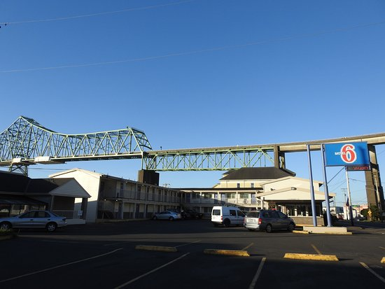 Motel 6 Astoria: Looking east - Megler bridge in background