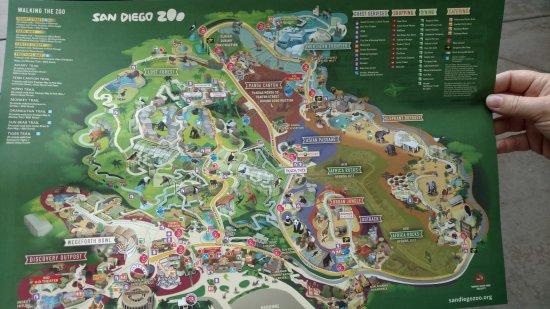 Zoo map - 聖地牙哥聖地亞哥動物園的圖片- TripAdvisor