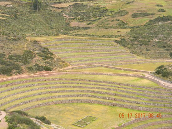 Maras, Peru: not all the terraces are circular.