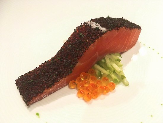 Tetsuya's: Confit of ocean trout, salad of celery and apple (signature dish)
