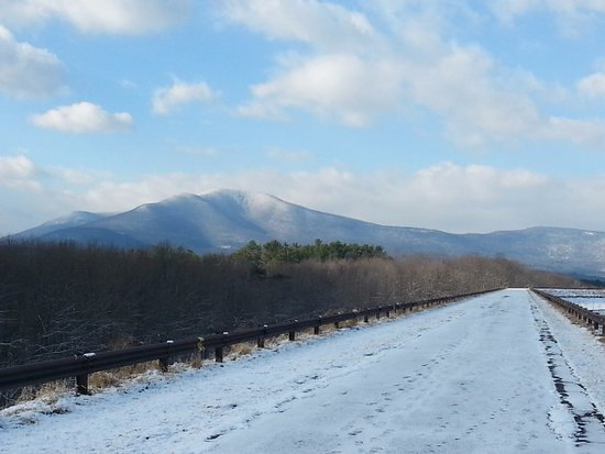 snow on walkway , Picture of Catskill Mountains, New York