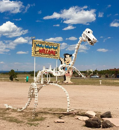Flintstone Bedrock City: Dinosaurs and man lived together.