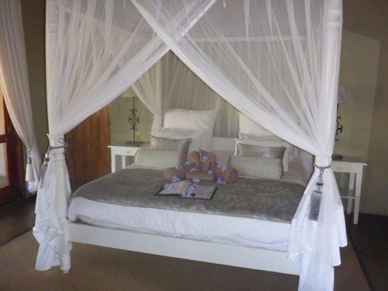 Kambaku Safari Lodge: Canopy bed