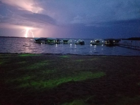 Perham, MN: Lightning storm view from Cabin 7