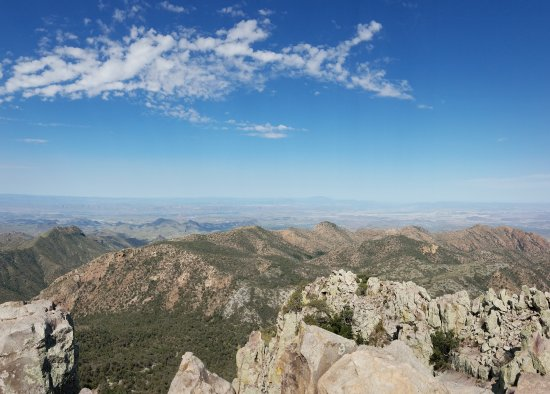 One view from the top of Emory Peak. You have to ascend all the way for this view.