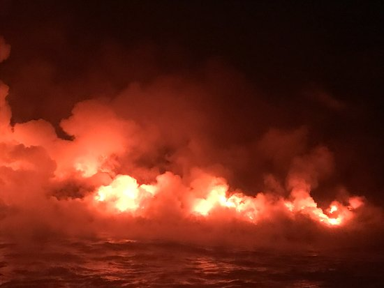 Pahoa, Гавайи: Lava at twilight