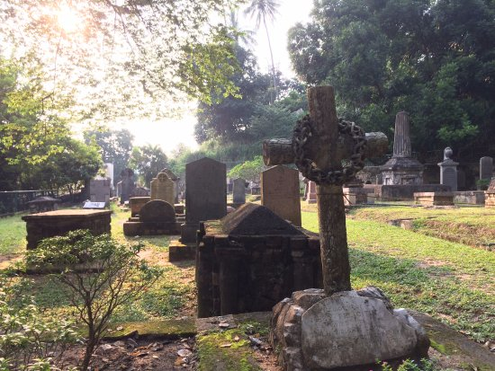 Gravestones in the Kandy Garrison Cemetery