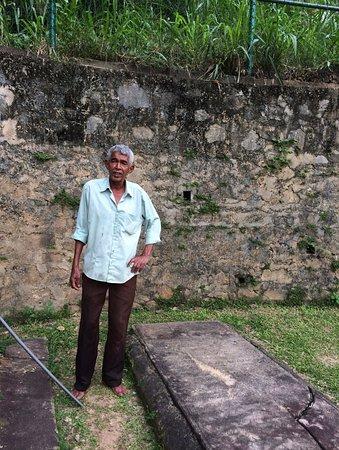Kandy Garrison Cemetery: Mr Charles Carmichael, the caretaker.