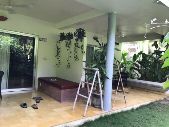 Battambang Resort: the two adjoining family rooms