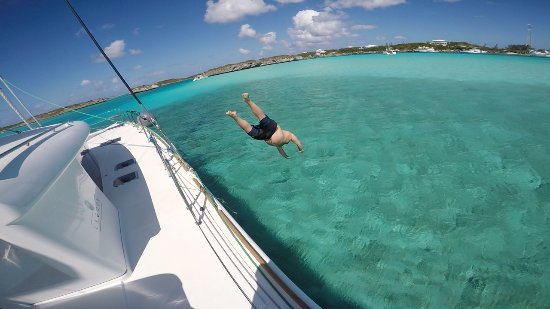 Unwind time at Staniel Cay - Picture of Bahamas Catamaran