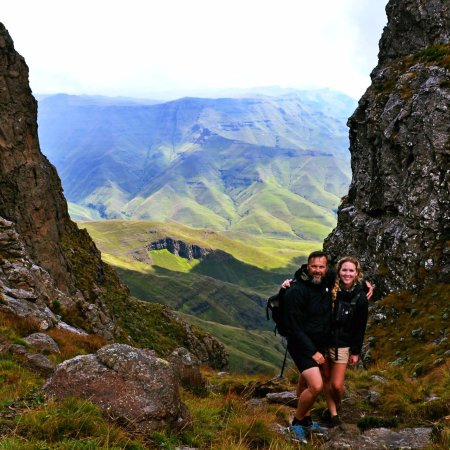 Bergville, Sydafrika: Favorite hike up the Sentinal - so many to choose from!