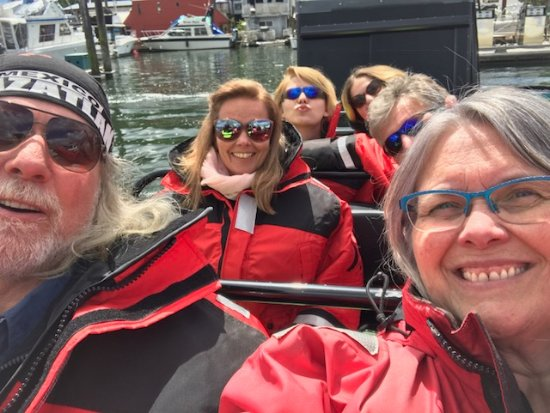 Selfie time, Ocean EcoVentures Whale Watching, 1721 Cowichan Bay, BC