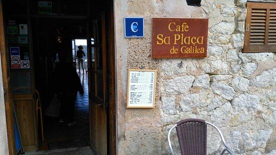 Cafe Sa Placa de Galilea. Tabla precios