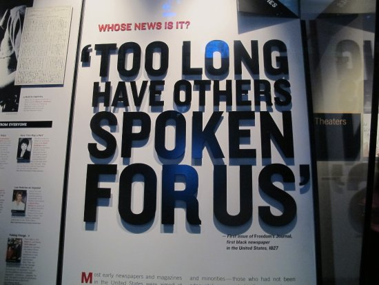 Newseum: one of the many gr8 quotes