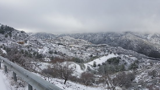 Nicosia District, Cyprus: Winter scenery in Farmakas