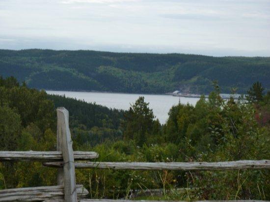 Saint-Fulgence, Canada: Une vue depuis le Gîte de l'Artisan
