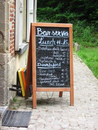 The Spanish House: menu