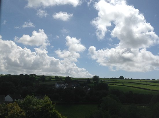 Wolf's Castle, UK: View from our hotel room